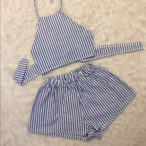 New Striped Two-Piece Outfit ✨